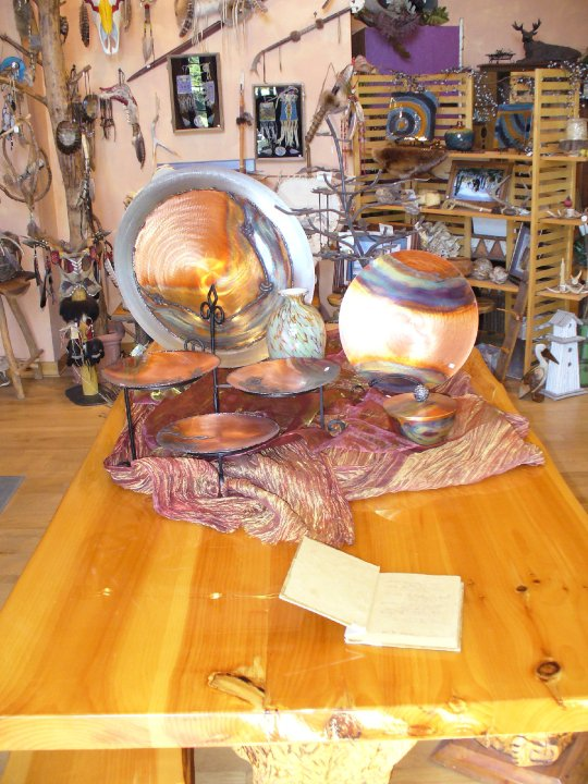 Carved Log Table