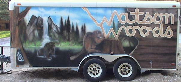 Watsons Woods Trailer with nature scene